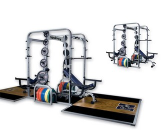 WILDER FW-024P Double Power Rack w/ Oak Platforms