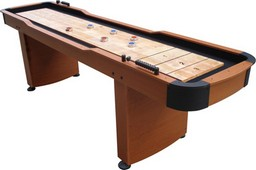 MO1701W  Rhino 9 ft Wood Veneer Shuffleboard Table