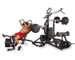 X Body Solid SBL460P4  Freeweight Leverage Gym Package