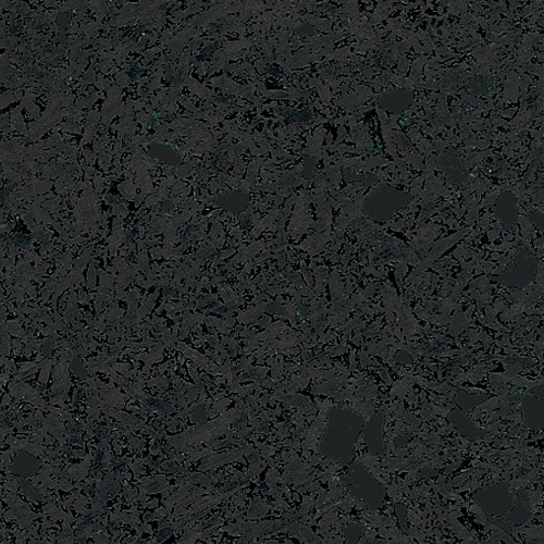 Sports Flooring SRIT2020 Black 2 X 2 X 8mm Puzzle Tile