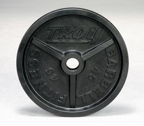 "Troy PO-xxx 2"" Premium Grade Black Wide Flanged Olympic Plate"