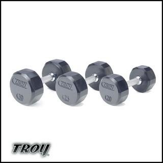 Troy TSD-xxxR 12 sided Rubber Encased Dumbbells