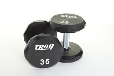 Troy TSD-xxxU  Urethane 12 Sided Dumbbells