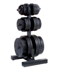Z Body Solid WT46 Olympic Weight Tree and Bar Holder
